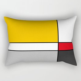 Mid century Modern yellow gray black red Rectangular Pillow