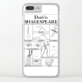 Death by Shakespeare Clear iPhone Case