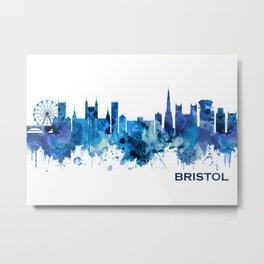 Bristol England skyline Blue Metal Print