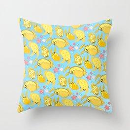 Silly Sea Lemons Throw Pillow