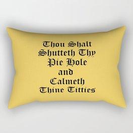 Calmeth Thine Titties Poster Rectangular Pillow