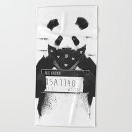Bad panda Beach Towel