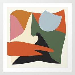 Abstract Mountain Scene Art Print