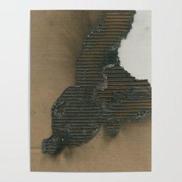Burned Cardboard Poster
