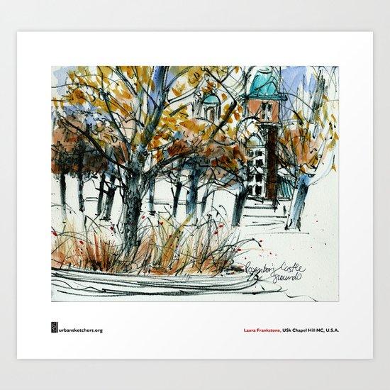 """Laura Frankstone, """"Rosenborg Castle Grounds, Copenhagen"""" Art Print"""