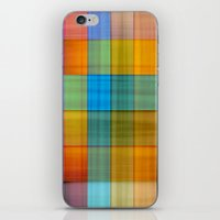 fabric iPhone & iPod Skins featuring Fabric by RingWaveArt