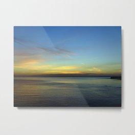 Kimmeridge Bay Sunset #3 Metal Print