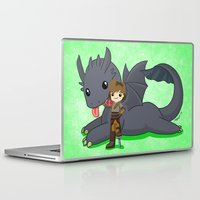 how to train your dragon Laptop & iPad Skins featuring How to Train Your Dragon 2 by Mayying