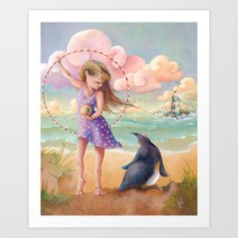 Z imagination Felicity and Fritz, Orphic Wanderers Art Print