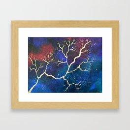 Cosmic Lightning Framed Art Print