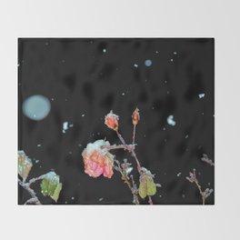 Falling Roses Throw Blanket
