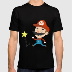 Mario Mens Fitted Tee Black MEDIUM