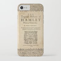 hamlet iPhone & iPod Cases featuring Shakespeare, Hamlet 1603 by BiblioTee