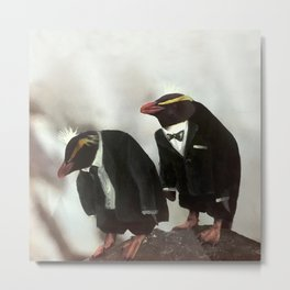 Penguins in tuxedos Metal Print