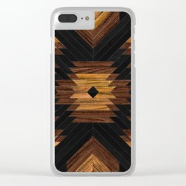 Urban Tribal Pattern 7 - Aztec - Wood Clear iPhone Case