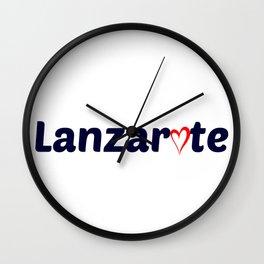 Lanzarote Love Wall Clock