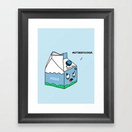 OCD Milk Nightmare Framed Art Print