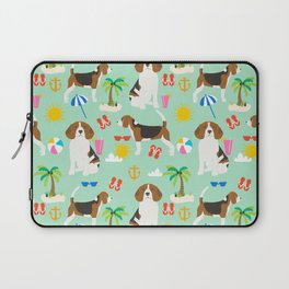 Beagle beach vacation dog breed lover beagles must haves summer gifts Laptop Sleeve