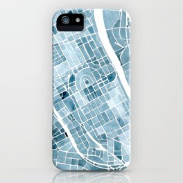 Map Nashville Tennessee Blueprint City Map iPhone Case