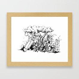 interpopfj;asod Framed Art Print