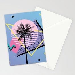 Memphis pattern 46 - 80s / 90s Retro / Palm Tree Stationery Cards