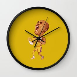 KobeBryant Scream Wall Clock