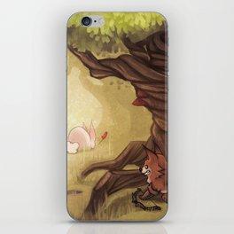 Catching the rabbit iPhone Skin