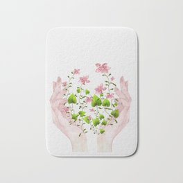 Blooming Hands Bath Mat