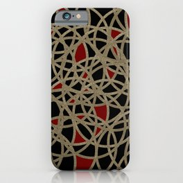 Gold red rings iPhone Case