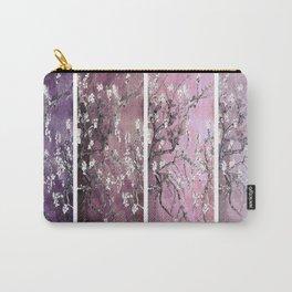 Vincent Van Gogh : Almond Blossoms Panel Art Purple Plum Carry-All Pouch
