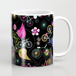 Cycledelic black Coffee Mug