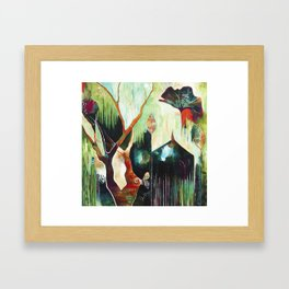 """""""Temple Lilies"""" Original Painting by Flora Bowley Framed Art Print"""