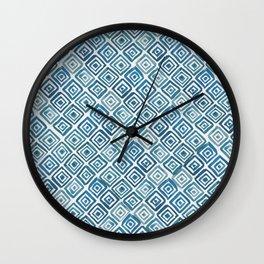 Watercolor Triangles (Blue) Wall Clock