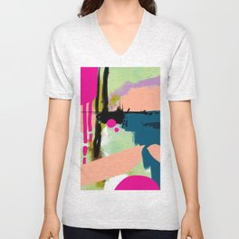 abstract color play Unisex V-Neck
