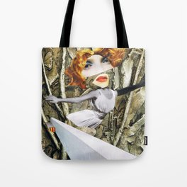 bird - collage Tote Bag