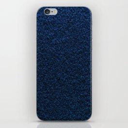 Dark Blue Fleecy Material Texture iPhone Skin