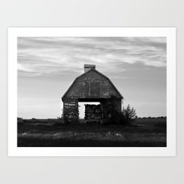 Country Corn Crib Art Print