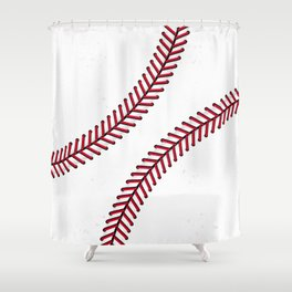 Fantasy Baseball Super Fan Home Run Shower Curtain