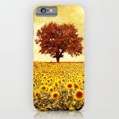 lone tree & sunflowers field iPhone 6 Slim Case
