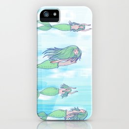 Mermaids dream by day iPhone Case