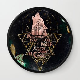 ACOWAR - You Are A Wolf Wall Clock