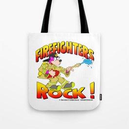Firefighters Rock Merchandise Tote Bag