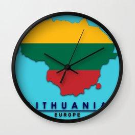 Lithuania - Europe Wall Clock
