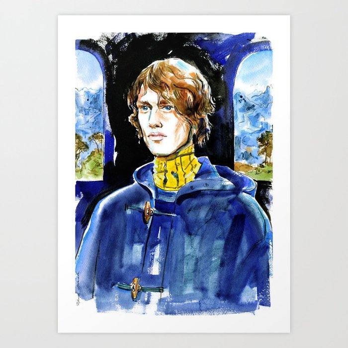 Male Portrait In A Landscape In The Renaissance Style Art Print By Irinaivanova