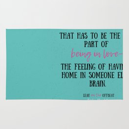 Leah on the Offbeat by Becky Albertalli quote Rug