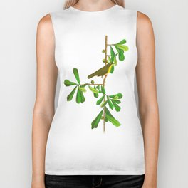 Roscoe's Yellow-throat Bird Biker Tank