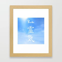 Sacred geometry. Reiki symbol. The word Reiki is made up of two Japanese words, Rei means 'Universal Framed Art Print
