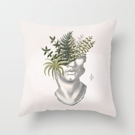 silently growing Throw Pillow