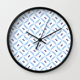 rosace 13- light and dark blue Wall Clock