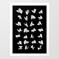origami Art Prints featuring origami by spinL